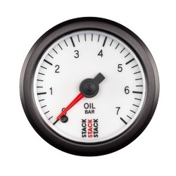 Öljynpainemittari (0-7 bar), Valkoinen tausta