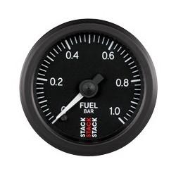 Polttoainepainemittari (0-1 bar), Musta tausta