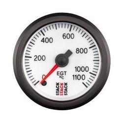 Pakokaasun lämpötilamittari (0 - 1100øC), Valkoinen tausta