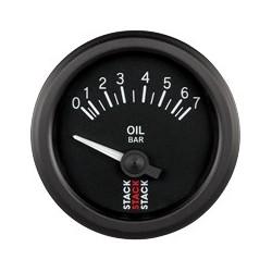 Öljynpainemittari (0-7 bar), Musta tausta