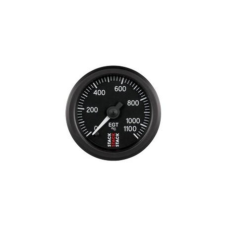 Pakokaasun lämpötilamittari (0 - 1100øC), Musta tausta